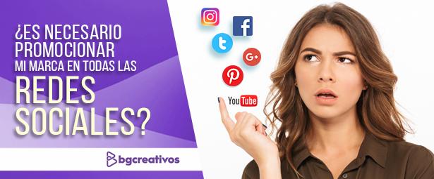 ¿Es necesario promocionar mi marca en todas las redes sociales?