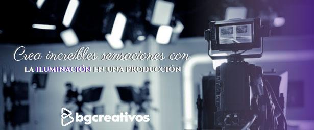 Crea increíbles sensaciones con la iluminación en una producción
